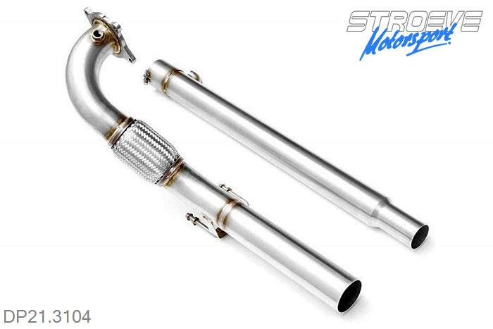DP21.3104, Downpipe 76mm, Audi A3 8P FWD 2.0 TFSi (200 Hp) 200HP, 2005-2013