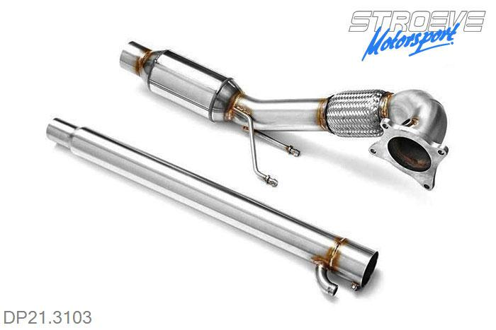 DP21.3103, Downpipe with 200 cells metal cat 76mm, Audi A3 QUATTRO 8P Quattro 1.8T 2.0T, 2005-2013