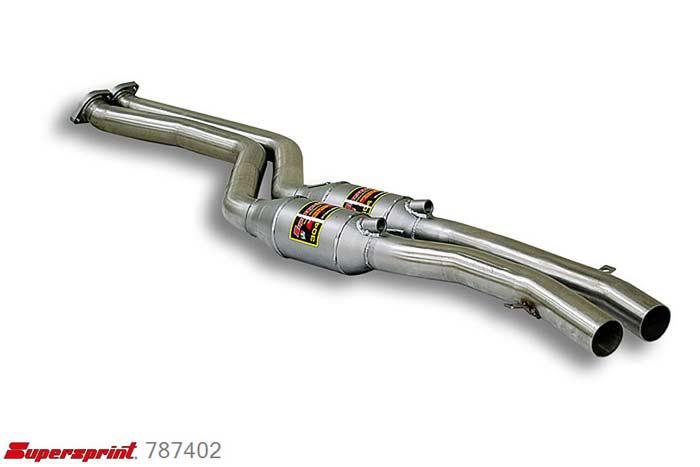 787402, BMW E46, BMW E46 320Ci (Coupe - Cabrio) ' 99 - 2000, Front exhaust with metal Metallic catalytic converter right + left, Full kit only