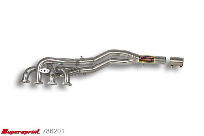 786201, BMW E46, BMW E46 318i (Sedan - Touring) ' 98 - 2000, Manifold - (Left Hand Drive) - Stainless steel for OEM catalytic converter