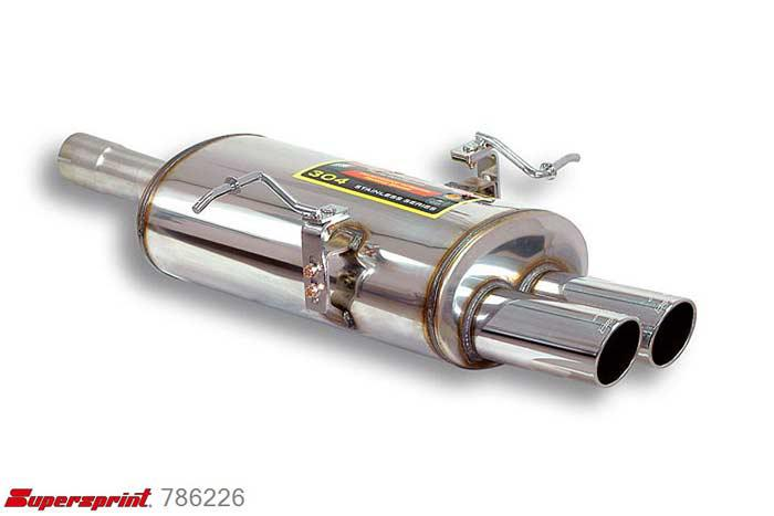 786226, BMW E46, BMW E46 316i (Sedan - Touring) (1.8i 16V 115 Hp) 2001 -, Rear exhaust OO 80