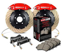Stoptech big brake kit red drilled
