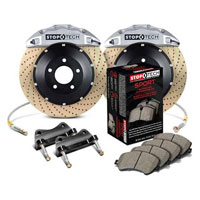 Stoptech big brake kit silver drilled