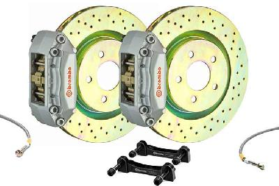 Brembo Big Brake Kit Silver, 305x28mm 1-Piece  rotor Drilled, 4 piston caliper, Brembo A Caliper, Alfa Romeo, 147 All models (excluding GTA) Front, 2001-2009