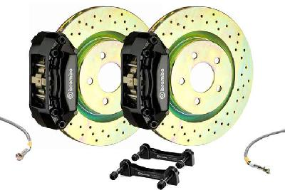 Brembo Big Brake Kit Black, 305x28mm 1-Piece  rotor Drilled, 4 piston caliper, Brembo A Caliper, Alfa Romeo, 156 / Sportwagon All models Front, 2000-2007