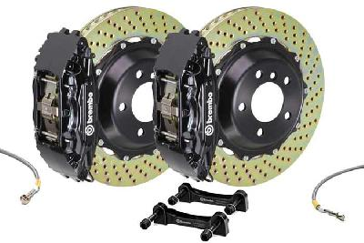 Brembo Big Brake Kit Black, 355x32mm 2-Piece rotor Drilled, 4 piston caliper, Brembo H Caliper, Audi, A3 (8V) 1.0 TFSI, 1.2 TFSI, 1.8 TFSI, 2.0 TDI Front, 2013-