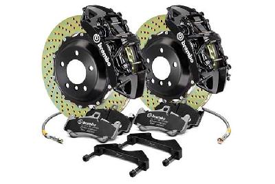 Brembo Big Brake Kit Black, 355x32mm 2-Piece rotor Drilled, 6 piston caliper, Brembo M Caliper, Audi, A3 (8V) 1.0 TFSI, 1.2 TFSI, 1.8 TFSI, 2.0 TDI Front, 2013-