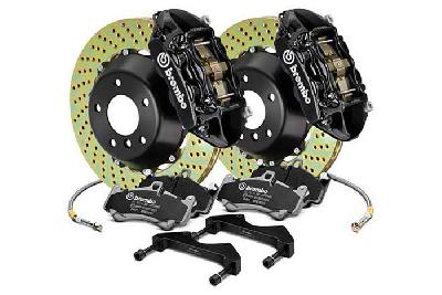 Brembo Big Brake Kit Black, 365x29mm 2-Piece rotor Drilled, 4 piston caliper, Brembo P Caliper, Audi, A3 (8V) 1.0 TFSI, 1.2 TFSI, 1.8 TFSI, 2.0 TDI Front, 2013-