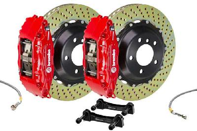 Brembo Big Brake Kit Red, 355x32mm 2-Piece rotor Drilled, 4 piston caliper, Brembo H Caliper, Audi, A3 (8V) 1.0 TFSI, 1.2 TFSI, 1.8 TFSI, 2.0 TDI Front, 2013-