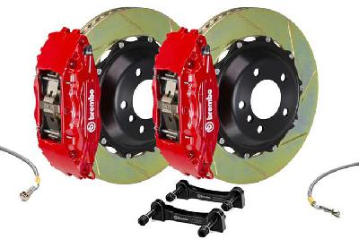 Brembo Big Brake Kit Red, 355x32mm 2-Piece rotor Slotted, 4 piston caliper, Brembo H Caliper, Audi, A3 (8V) 1.0 TFSI, 1.2 TFSI, 1.8 TFSI, 2.0 TDI Front, 2013-