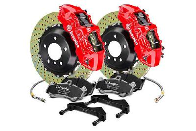 Brembo Big Brake Kit Red, 355x32mm 2-Piece rotor Drilled, 6 piston caliper, Brembo M Caliper, Audi, A3 (8V) 1.0 TFSI, 1.2 TFSI, 1.8 TFSI, 2.0 TDI Front, 2013-