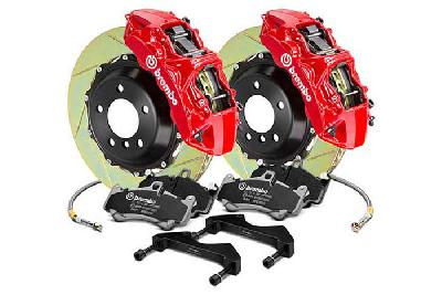 Brembo Big Brake Kit Red, 355x32mm 2-Piece rotor Slotted, 6 piston caliper, Brembo M Caliper, Audi, A3 (8V) 1.0 TFSI, 1.2 TFSI, 1.8 TFSI, 2.0 TDI Front, 2013-