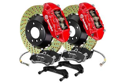 Brembo Big Brake Kit Red, 365x29mm 2-Piece rotor Drilled, 4 piston caliper, Brembo P Caliper, Audi, A3 (8V) 1.0 TFSI, 1.2 TFSI, 1.8 TFSI, 2.0 TDI Front, 2013-