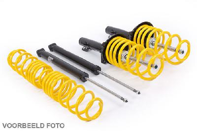 23210334, ST-Suspension sport suspension kit, Verlaging voor/achter 40/40 mm, Audi A6 (4B) Frontantrieb / 2WD Avant / stationwagon, 2.4i, 2.8i, 3.0, 2.5TDi, Vermogen 100-162kW, 03/1997-04/2004, Max vooraslast tot -1240 Kg, Front spring basis of suspensions and front dampers from modell 2002 have to be replayced by new spring basis Audi part nr. (4D04107B).