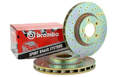 RD135000, Brembo High carbon steel brake discs, Rear axle, Drilled and zinc coated, Abarth PUNTO / GRANDE PUNTO (199), 1.4 Abarth, 155 PK, 12/2007-, Diameter 264mm, Thickness 10mm, Height 40,5mm