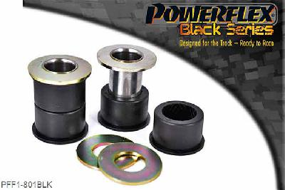 PFF1-801BLK, Powerflex Polyurethane Racing, Front Lower Wishbone Front Bush, Alfa Romeo 145, 146, 155 (1992-2000), These bushes are designed to fit genuine control arms. If non genuine arms are fitted and you find the stainless steel sleeve not to fit onto the wishbone, please contact us with dimensions of the wishbone pin as you will require modified sleeves. WE RECOMMEND THE USE OF LOCTITE 648 OR 848 TO SECURE CENTRE SLEEVE TO ARM, 2 stuk(s) benodigd  per auto, 2 stuk(s) benodigd  per auto, prijs per set van 2 stuk(s), prijs per set van 2 stuk(s)