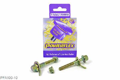 PFA100-10, Powerflex Polyurethane Racing, PowerAlign Camber Bolt Kit (10mm), Alfa Romeo 145, 146, 155 (1992-2000), Kit contains 2 camber bolts, tab washers and nuts. Camber adjusting bolt to replace the original 10mm bolt.  Why not add our Magnetic Camber Gauge to your tool kit so that you can make pit garage adjustments to your suspension using PowerAlignCamber Bolts....ClickHEREfor more information., 1 stuk(s) benodigd  per auto, 1 stuk(s) benodigd  per auto, prijs per set van 1 stuk(s), prijs per set van 1 stuk(s)