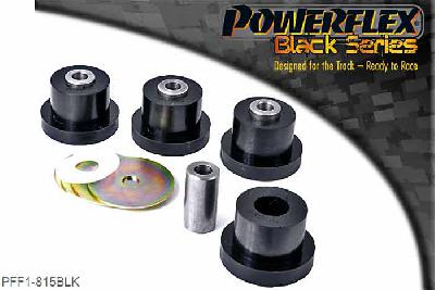 PFF1-815BLK, Powerflex Polyurethane Racing, Front Upper Arm Bush, Alfa Romeo 147 (2000-2010), 156 (1997-2007), GT (2003-2010), These bushes should be fitted with the supplied metal washers which are to be fitted on the large Top Hat face of the bush.    Always check suspension alignment after fitting POWERFLEX bushes., 4 stuk(s) benodigd  per auto, 4 stuk(s) benodigd  per auto, prijs per set van 4 stuk(s), prijs per set van 4 stuk(s)